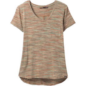 Prana Foundation Short Sleeve V Neck Shirt Women, sundried